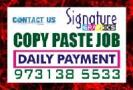 Bangalore Copy paste Job Daily Payment Daily Incom